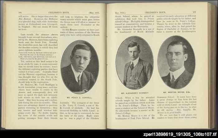Three of Mawson's men