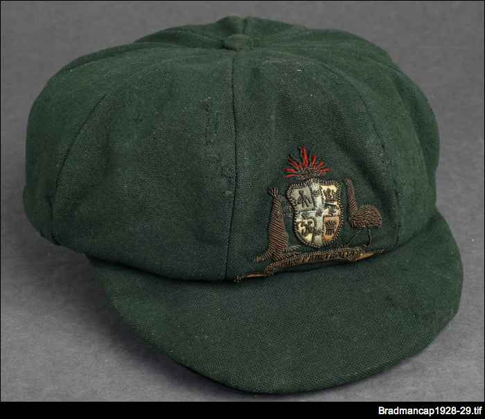 Baggy green: Bradman's 1928/29 Test series cap