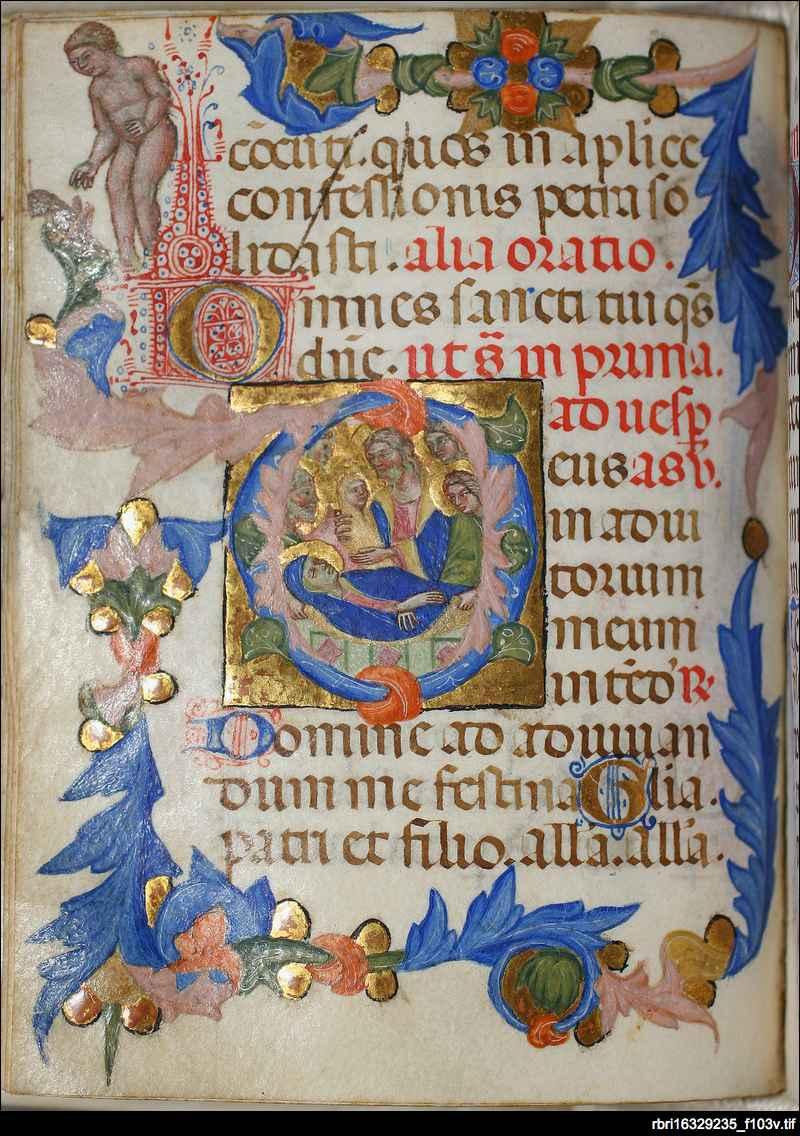 Dormition of the Virgin: folio 96v