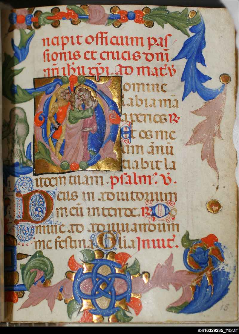 Betrayal of Christ: folio 15r