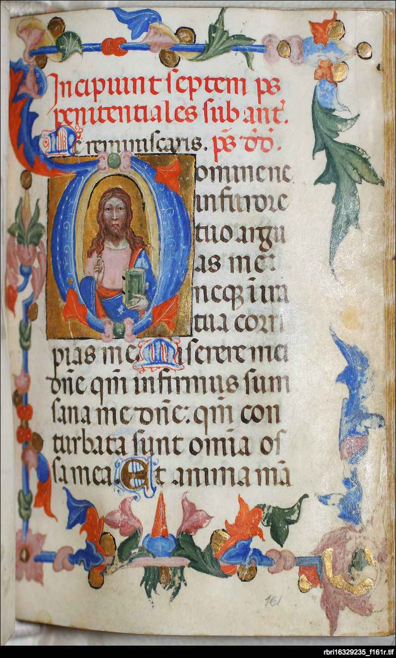 Christ blessing: folio 161r
