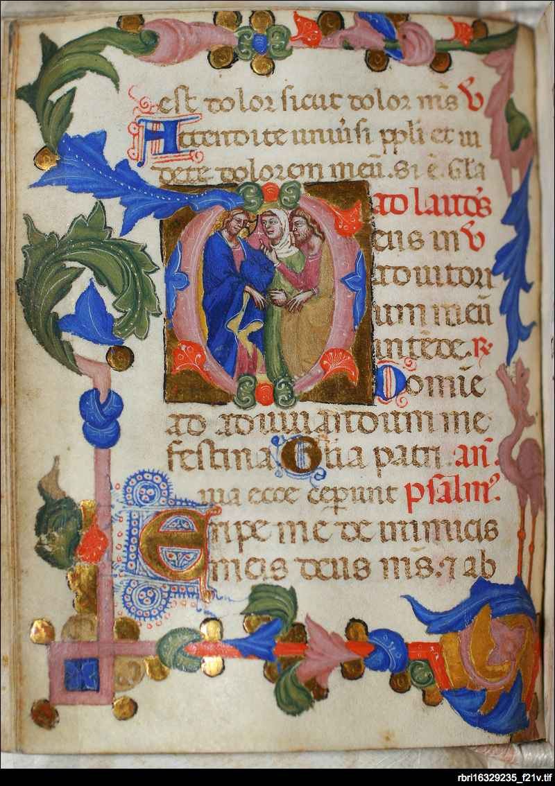 Christ before Pilate: folio 21v