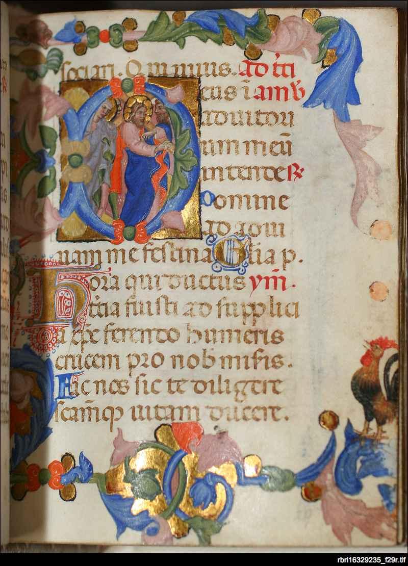 Christ carrying the Cross: folio 29r