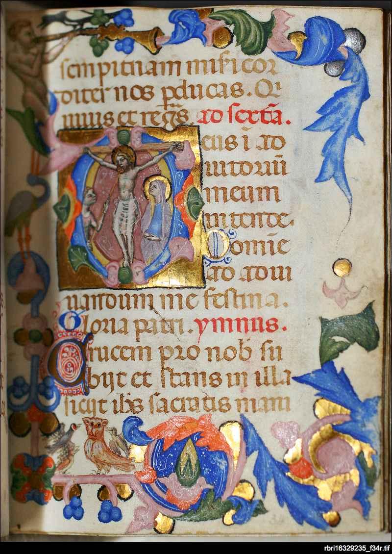 Christ crucified: folio 34r