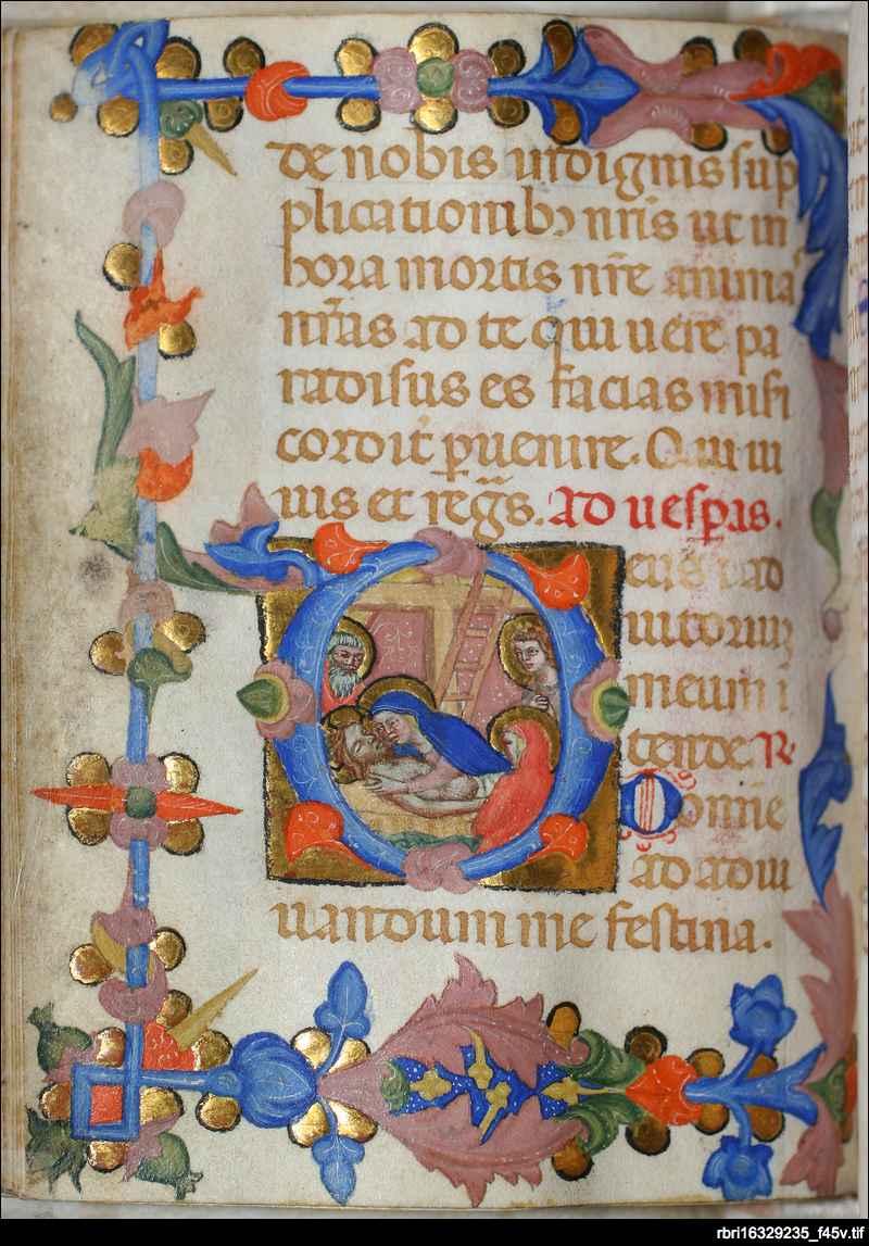 Deposition of Christ: folio 45v