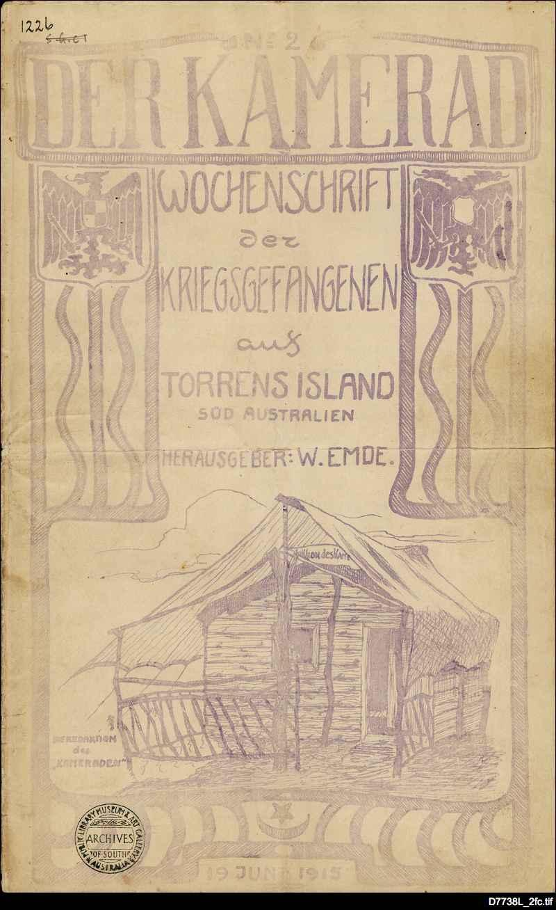 Der Kamerad: Torrens Island Internment Camp newsletter