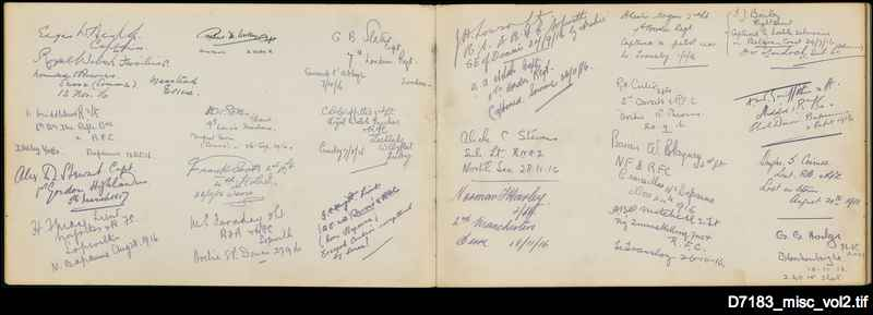 Autograph book from German POW camp