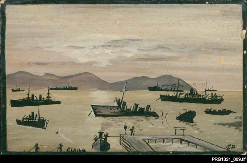 Postcard drawing of Suvla Bay