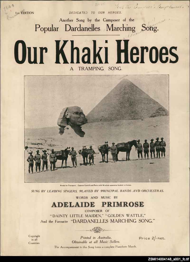 Our khaki heroes: a tramping song