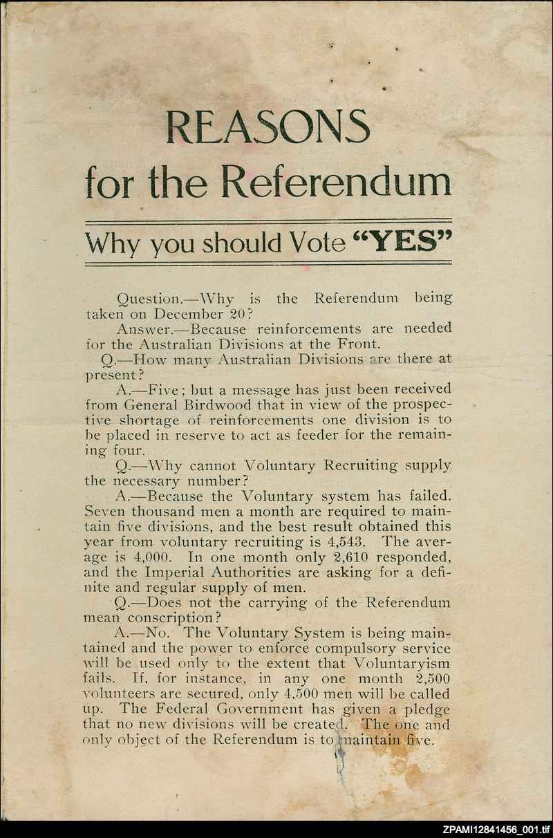 "Reasons for the referendum: why you should vote ""yes"""