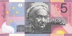 Australia's 2001 Federation five dollar note