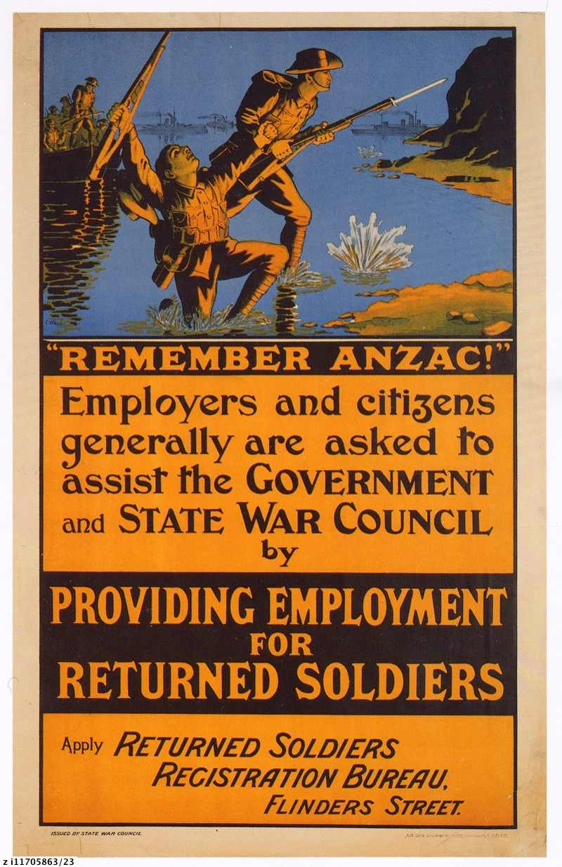 """Remember ANZAC!"" : World War 1 recruiting poster"